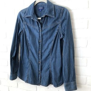 Pendleton Chambray Denim Fitted Shirt Casual